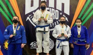 Contemplada pelo Bolsa Atleta conquista dois ouros no Brasileiro de Jiu-Jitsu Esportivo