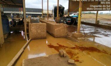 Empresa de lava a jato e borracharia é interditada pela PM por poluição