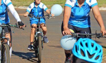 Pedal Azul' aconteceu neste domingo em Chapadão do Sul