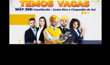Costa Rica, Cassilândia e Chapadão do Sul: vagas de emprego? Envie currículo na SER Consultoria!