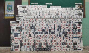 Comboio é apreendido com mais de 7 mil maços de cigarros contrabandeados