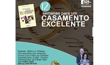 """Neste mês de fevereiro inicia-se o curso """"12 Semanas para um Casamento Excelente"""""""
