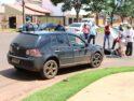 Enfermeira sofre acidente na Av MS ao colidir moto com carro em Chapadão do Sul