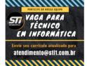 STI Informática está contratando técnico